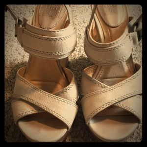 Cute high heeled summer wedges